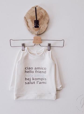 Langarmshirt 'hello friend'