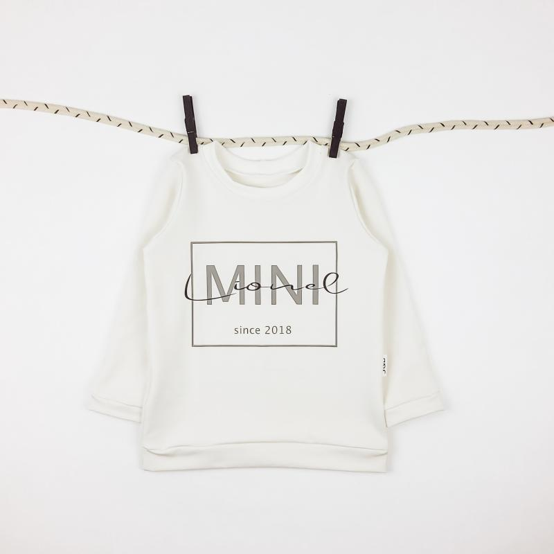 Langarmshirt Mini Name creme